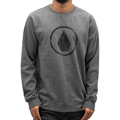 Volcom Stone Crew felpa girocollo Grigio Felpa, Uomo, Stone Crew Sweatshirt Pullover Rundhals Herren Grau, grigio, M