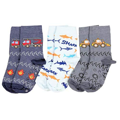TupTam Unisex Baby Stoppersocken ABS Socken 3er Set, Farbe: Junge 2, Socken Größe: 27-30