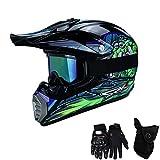 QYTK Série MT-515 Motorradhelm, Full face Motocross Helm Sport Adventure Racing Motorrad-Helm...