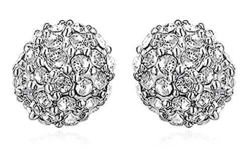 amdxd-jewelry-damen-ohrhanger-weiss-gold-vergoldet-ball-geformte-cubic-zirkonia-cz