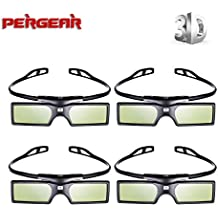 4 Pares Pergear 144Hz 3D DLP-link Proyector Gafas para Optoma/BenQ/Acer/ LG Proyector