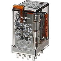 Finder Serie 55 - Rele Industrial 230vac 4 contactos pulsador +indicador Agni+au