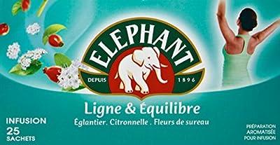 Elephant Infusion Ligne Et Equilibre 25 Sachets 46g - Lot de 4