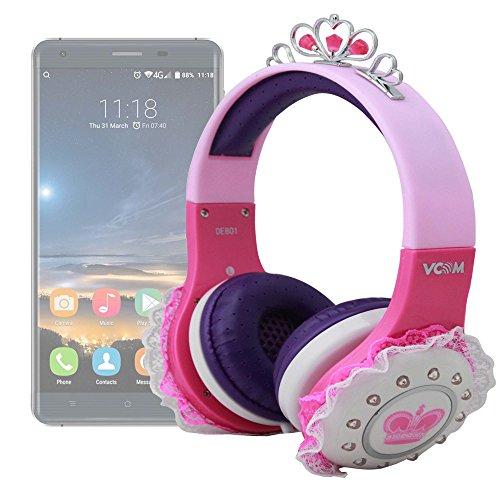 DURAGADGET Auriculares De Princesa para Smatphone Hisense C30 Rock Lite/Onix S405 / Onix S551 / Oukitel K3 / SORAKA Z8 / VKWorld Mix Plus Sonido Y Conexión Jack De 3.5mm