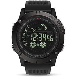 Reloj Inteligente Hombre, GOKOO Smartwatch Fitness Tracker Reloj Deportivo Hombre al Aire Libre con Podómetro, Contador de Calorías, Cronómetro para Android y iOS
