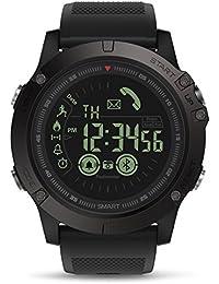 Orologio Intelligente Bluetooth, GOKOO Smart Watch Uomo 5ATM IP67 Impermeabile Luminoso Tracker Fitness Orologio Con Sveglia Cronometro per il Telefono Android iPhone iOS