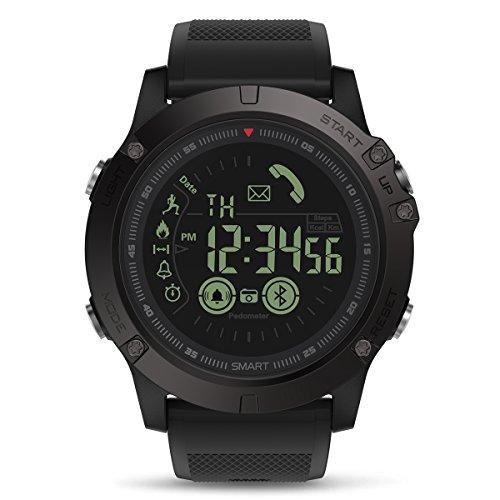 Reloj Inteligente Hombre, GOKOO Smartwatch Reloj Deportivo Hombre al Aire Libre con Podómetro, Contador de Calorías, Cronómetro para Android y iOS