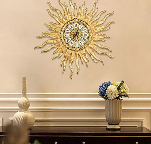 Europäische Uhr Reines Kupfer Vergoldete Wandtafeln Kreative Mode Stumm Atmosphäre Hause Wohnzimmer Präzision Bewegung Wanduhr Gold Aluminium 20 Zoll
