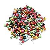 Homgaty Mini-Drahtstifte / Zwecken, 4,5mm, bunt, für Papier, Bastelarbeiten, Scrapbooking, 200 Stück