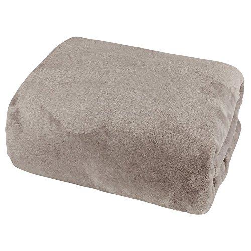 Mojawo Cashmere Touch Spannbetttuch 100x200cm 100% Polyester Taupe Spannbettlaken