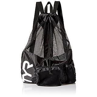 TYR Alliance Big Mesh Mummy Backpack - Swimming Mesh Bag - Black