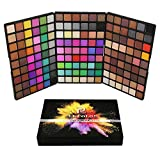 SMILEQ 162 Colors Cosmetic Powder Eyeshadow Palette Makeup Set Matt Available (15.6CM*10.5CM*2.5CM, Schwarz)