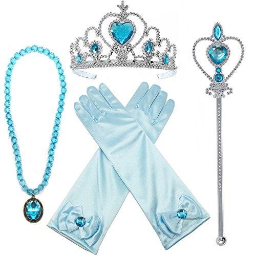 Verkleiden Prinzessin (Alead Prinzessin Verkleiden Sich Elsa Blau 4 Stück Geschenk-Set)