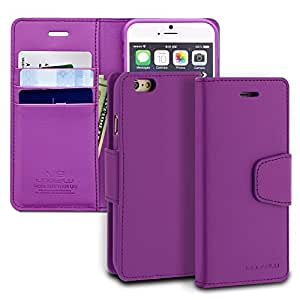 iPhone 6s Case, ModeBlu [Classic Diary Series] [Purple] Wallet Case ID Credit Card Cash Slots Premium Synthetic Leather [Stand View] for Apple iPhone 6s & 6, 4.7 inch