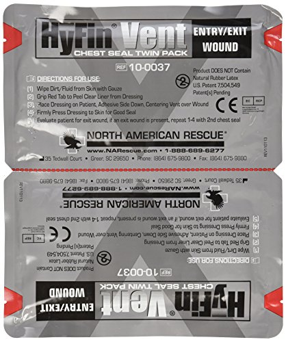 North American Rescue Hyfin Vent Chest Seal, 2 Stück