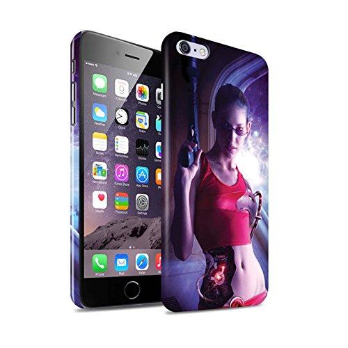 Officiel Elena Dudina Coque / Clipser Brillant Etui pour Apple iPhone 6S+/Plus / Pack 9pcs Design / Super Héroïne Collection Cyborg
