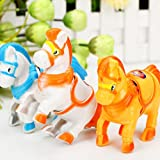 Supershopping 1 Pc Wind Up Animal Moving Horse Running Racing Classic Clockwork Plastic Toys For Kids Gift