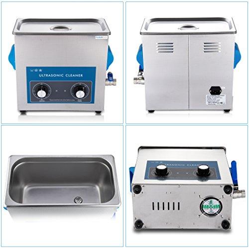 FLOUREON® 6L Ultraschallreinigungsgerät Ultraschall Gerät Reiniger Reinigungsgerät Ultraschallbad Heitzung großer Tank mit Korb Ultraschallreiniger -