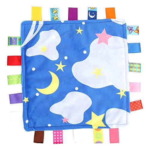 Tuch, neugeborenes weiches tröstendes Puppen-Säuglingshandtuchspielzeug(Sterne) ()