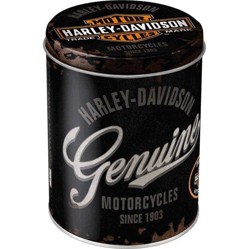 Nostalgic-Art 30501 Harley-Davidson Genuine Logo, Vorratsdose Rund