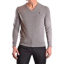RALPH LAUREN - Pull col V Ralph Lauren en laine gris pour homme e84b04da73c5