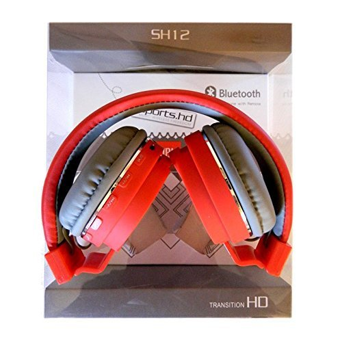 Bluetooth Headset Sh-12 Wireless/ Bluetooth Headphone With Fm And Sd Card Slot ,(White/Red/Black/Sky)