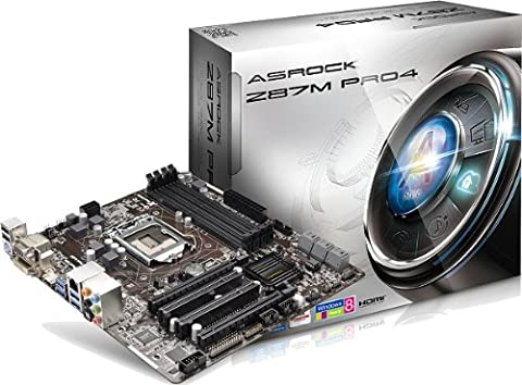 ASRock Z87M PRO4 Motherboard (Socket 1150, Z87 Express, DDR3, S-ATA 600, Micro ATX, Haswell, Supports 4th Generation IntelCore
