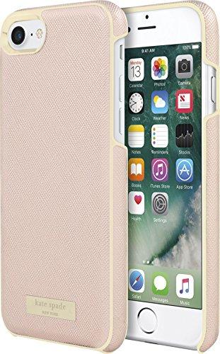 Kate Spade New York Wrap Case Schutzhülle für Apple iPhone 7 / 8 - rose gold/gold [Saffiano Design   Goldene Akzente   Hochwertige Materialien] - KSIPH-050-SRG