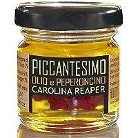 PICCANTESIMO Olio con CAROLINA REAPER - Piccante ESTREMO - Olio Extravergine Oliva al Peperoncino 1° Guinness World…
