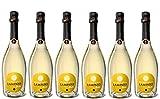 """Vino Bianco Moscato Spumante Dolce Cristal -Cantine""""LAMPATO"""" Colline Pescaresi - Abruzzo - Italy - Box da 6 Bottiglie da 0,75 lt."""