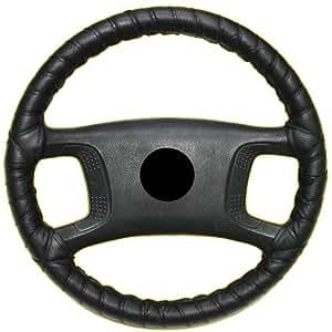 aerzetix couvre volant lacets taille m 37 40 cm noir en cuir v ritable. Black Bedroom Furniture Sets. Home Design Ideas