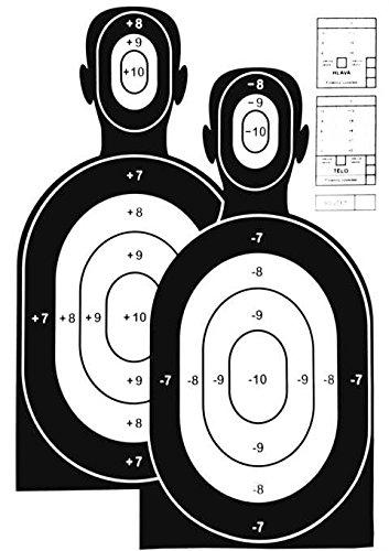 """JOKER AMMO® - Lebens Große Airsoft Zielscheiben / Mannscheibe \"""" Hostage Training \"""" - 10 Stück"""