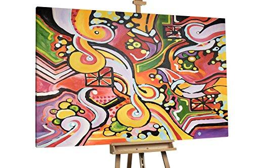 'Andere Zeiten' 180x120cm | Abstrakt Formen Bunt XXL | Modernes Kunst Ölbild