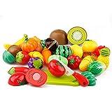 Vi.yo Küche Spielzeug Plastik Cutting Obst und Gemüse Pädagogische Spielzeug Spielen Food Set für Kinder
