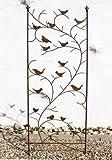 DanDiBo Rankhilfe mit Vögel 120705 Rankgitter aus Metall H-150 cm