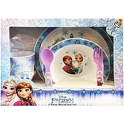 Disney Frozen-Juego Menaje 5Unidades, Color Celeste, 13471020