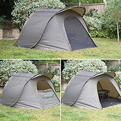 Quest Stealth MK2 Bivvy Pop Up Shelter Overnight Carp Fishing Bivvy 1 Man Brolly 2 Tent from Quest Tackle