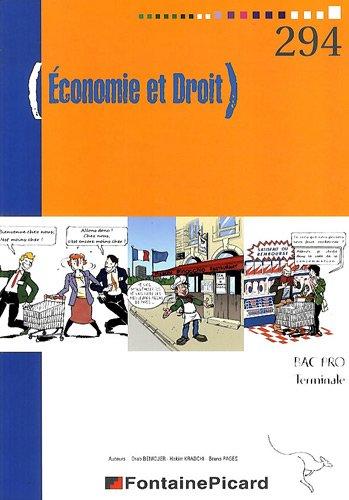 Economie et Droit Tle bac pro