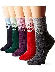 5pares Unisex Copo de nieve Hoja de arce Cachemira Invierno calentador Calcetines Conejo pelo Dick lana calcetines de media corta Calcetines hacha äufig Calcetines