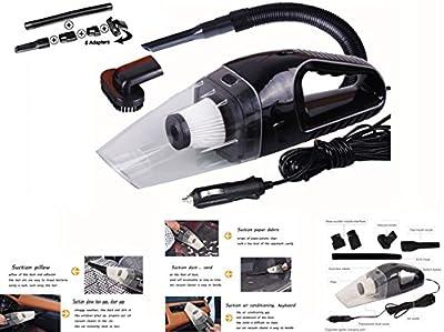 HHD® Aspiradora de mano, Aspirador de Portátil para coche Mojado/Seco Portátil DC 12 V 120 W Auto Aspirador de Mano con Cable de alimentación de 16,4 pies Automático Multifunción Coche o en Casa Polvo Buster
