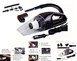 HHD® Portable Car Vacuum Cleaner, Vacuum Cleaner Car Vacuum Cleaner Auto for Car Hand Vacuum Cleaner Power Cord Cigarette Lighter for vacuuming the fabric, Wool and Hair or Hair – Water and Dust – 120 W (Black)