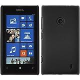 PhoneNatic Case für Nokia Lumia 520 Hülle schwarz gummiert Hard-case + 2 Schutzfolien
