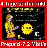 Prepaid Surf SIM von Congstar inkl. 4 Tage graits surfen für Tablet, Netbook o. Stick