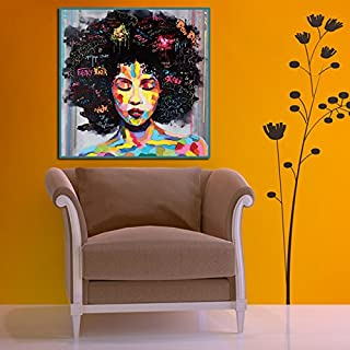 iHENGH Creative Style Canvas Frameless Beauty Picture Colorful Oil Painting Huge Wall Art Home Decor(M)