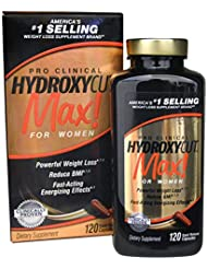 Hydroxycut Max-Pro Clinical Weight Loss For Women, 120 Capsules, Fast-Acting Energizing Effects by Iovate Health Sciences International Inc (English Manual)
