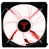 Riotoro 120 mm Cross X clair ventilateur à LED – Rouge