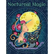 Nocturnal Magic - Adult Coloring Book: Step into the World of Night Creatures