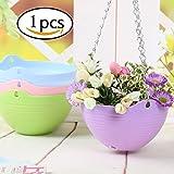Pot de fleurs suspendu en Résine Pots de Jardin Porteurs de fleurs Panier suspendu aux plantes Décoration de Jardin-1 pièce