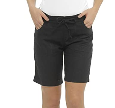 Tom Franks Ladies Linen Blend Mid Length Shorts: Amazon.co.uk ...