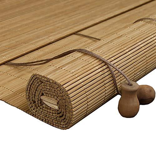 Estor enrollable YXX Persianas de Ventana Personalizadas - Cortinas de bambú con Cenefa para Patio/balcón/Muebles al Aire Libre (Color : Style-2, Tamaño : 120 x240cm)